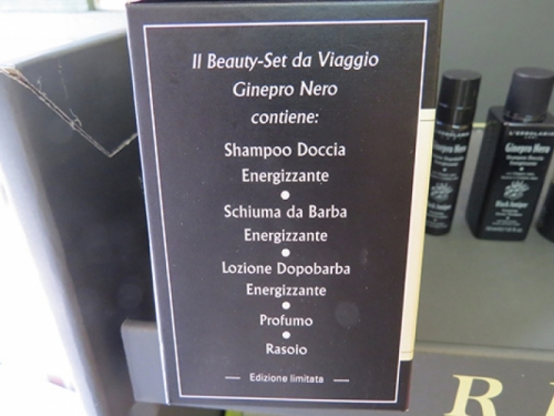 beauty-set da viaggio ginepro nero