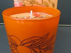 Candela profumata accordo arancio