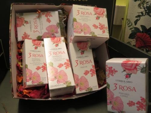 confezione regalo 3 rosa l'erbolario