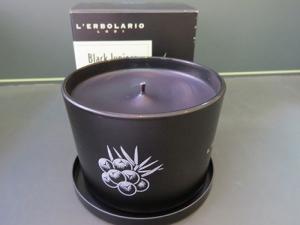 candela profumata ginepro nero